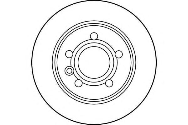 6027774 Диск тормозной FORD GALAXY 95-06/SEAT ALHAMBRA 96-10/VW SHARAN 95- задний