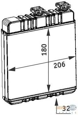 8FH351311141 Радиатор отопителя OPEL ASTRA G 1.6-2.2 98-