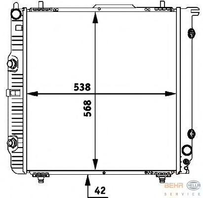 8MK376712331 Радиатор MB W463 2.0-5.5/2.7D-4.0TD 90-
