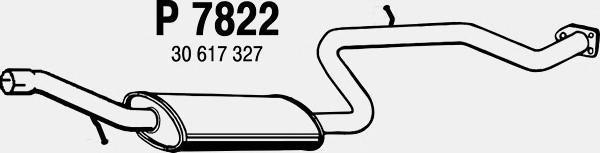 p7822 Средний глушитель выхлопных газов