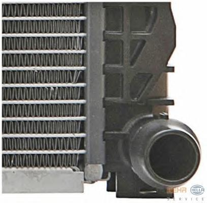 8mk376716621 Радиатор, охлаждение двигателя