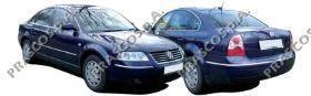 VW0531246 Накладка переднего бампера левая-грунтованная / VW Passat-V 01~