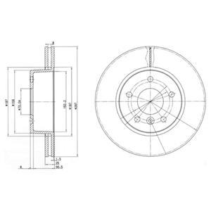 BG2860 Диск тормозной LAND ROVER RANGE ROVER 2.5-4.6 94-02 передний вент.D=297мм.