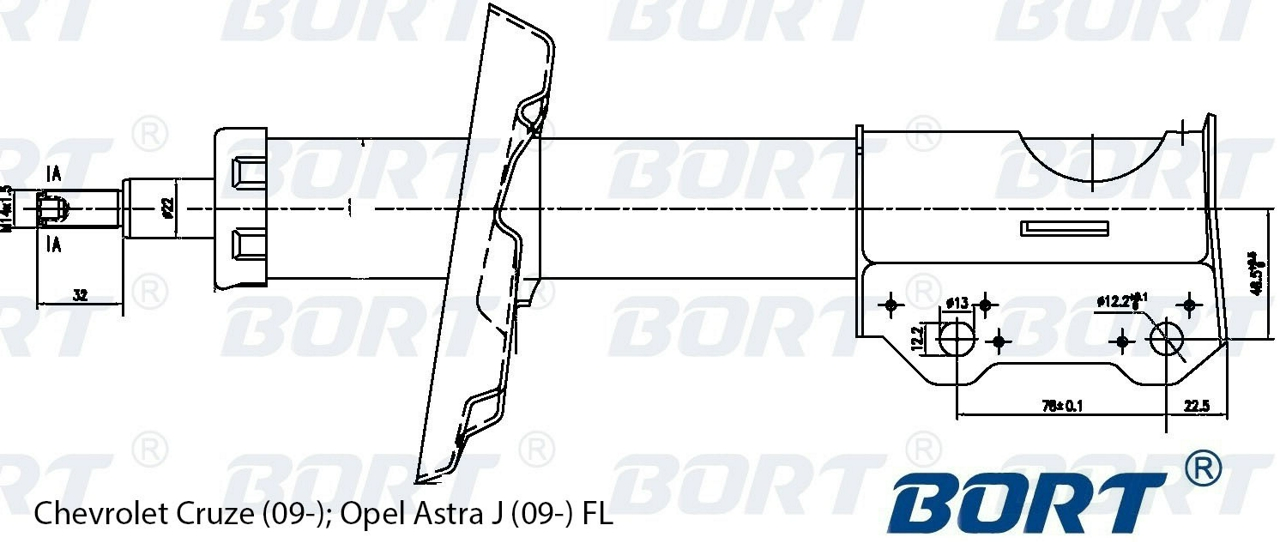 g22252028l Стойка амортизационная газомасляная передняя левая