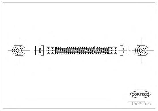 19025915 Шланг тормозной Mitsubishi