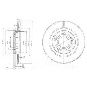 BG3525 Тормозной диск 2шт в упаковке
