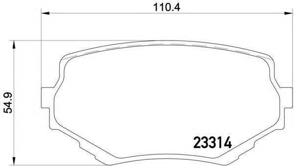 8DB355017181 Колодки тормозные SUZUKI VITARA/GRAND VITARA 94- передние