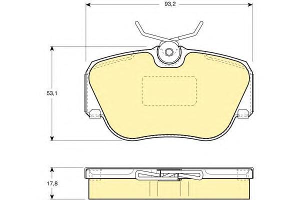6108171 Колодки тормозные MERCEDES W201 8293 передние
