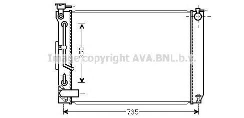 TO2648 Радиатор LEXUS RX300 3.0 A/T 02-