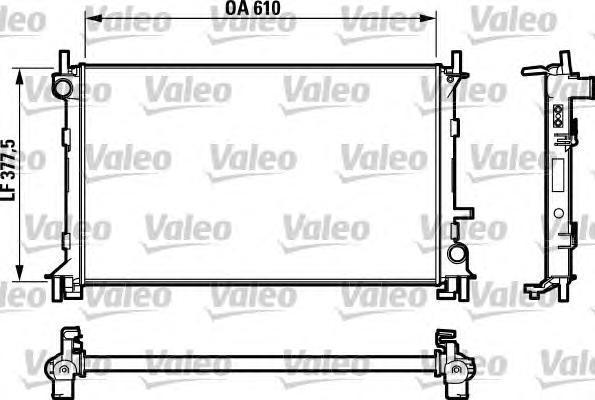732732 Радиатор системы охлаждения FORD: FOCUS (DAW, DBW) 1.4 16V/1.6 16V/1.8 16V 98-04, FOCUS седан (DFW) 1.4 16V/1.8 16V 99-05