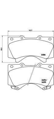 P83107 Колодки тормозные TOYOTA LAND CRUISER J200 4.5D/4.7 07-/LEXUS LX570 08- передние