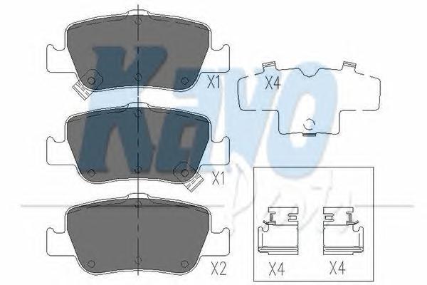 KBP9104 Колодки тормозные TOYOTA AURIS 1.33-2.2 07- (Великобритания) задние
