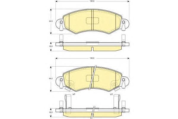 6114204 Колодки тормозные OPEL AGILA 00-/SUZUKI IGNIS 03- передние