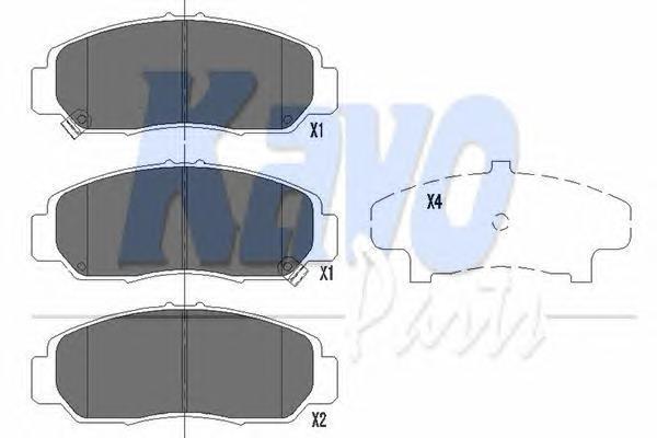 KBP2037 Колодки тормозные HONDA CIVIC 01-05/FR-V 1.7-2.2 05-/STREAM 1.7/2.0 01- передние