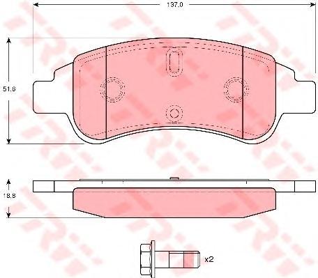 GDB1623 Колодки тормозные CITROEN BERLINGO/C4/XSARA/PEUGEOT PARTNER передние
