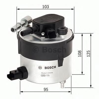 F026402046 Фильтр топливный FORD FOCUS/VOLVO S40 1.6D 04-