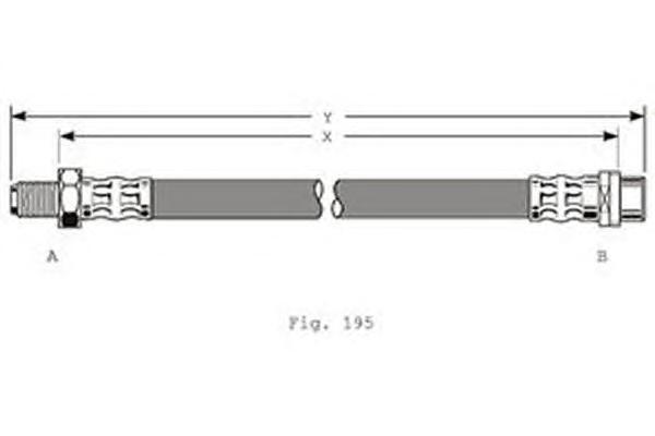 9002353 Шланг тормозной MERCEDES W202/203/210 передний