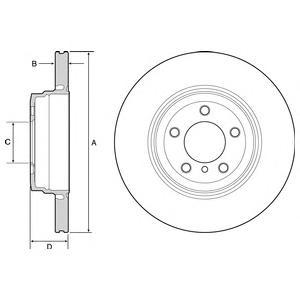 BG9120 Диск тормозной BMW E65/E66 730-760 03- задний вент.D=345мм.