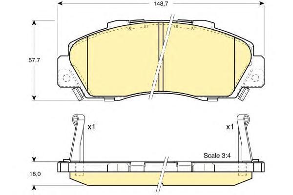 6131779 Колодки тормозные HONDA ACCORD 91-98/CR-V 95-02 передние