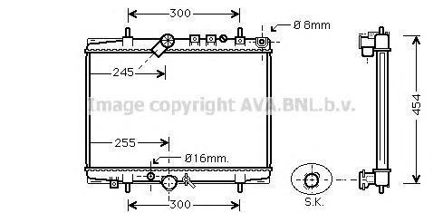 PEA2217 Радиатор системы охлаждения CITROEN: C5 (DC_) 2.2 HDi (DC4HXB, DC4HXE) 01 - 04 , C5 Break (DE_) 2.2 HDi (DE4HXB, DE4HXE)