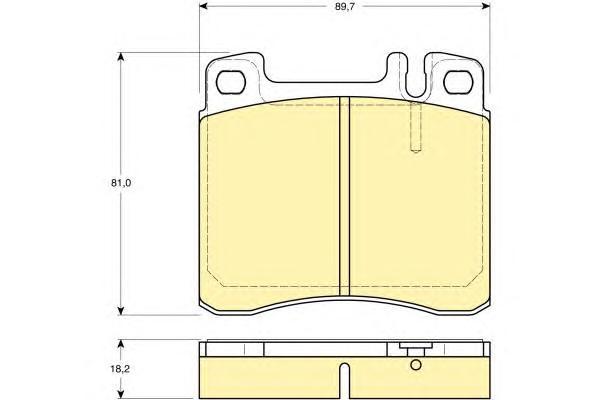 6111222 Колодки тормозные MERCEDES W140 3.0/3.2 91-98 передние