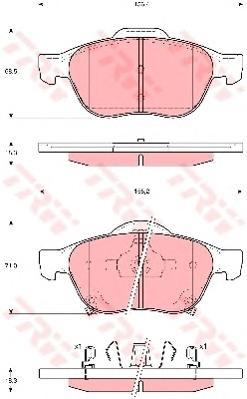 GDB3335 Колодки тормозные TOYOTA AVENSIS 1.6-2.0 99-03/VERSO 01- передние