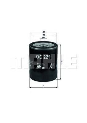 oc229 Фильтр масляный PORSCHE 911 CARRERA 3.6/3.8 93-97
