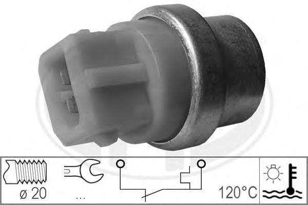 330161 Датчик температуры охлаждающей жидкости AUDI: A3 (8L1) 1.6/1.8/1.8 T/1.8 T quattro/1.9 TDI/S3 quattro 96-03, TT (8N3) 1.8