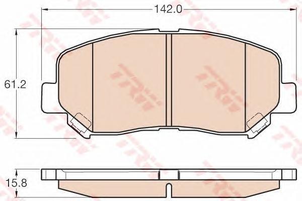 GDB3562 Колодки тормозные MAZDA CX-5 11- передние