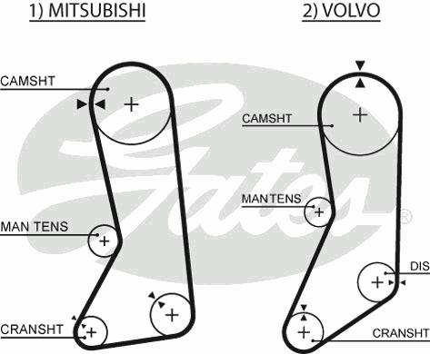 5371XS Ремень ГРМ MITSUBISHI 2.4 90-04 / VOLVO 2.0-2.3 86-00 (123x19)