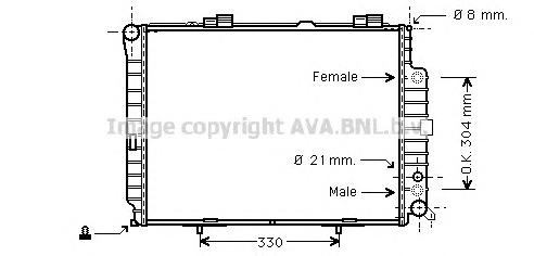 MSA2208 Радиатор MB W210 4.2-5.0/3.0D 95-03