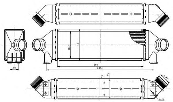 30887 Интеркулер FO Transit 2.4D 00-06