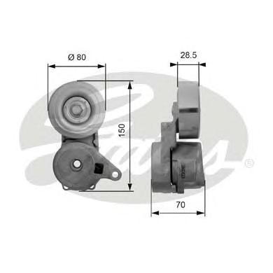 T38413 Натяжитель ремня приводного MITSUBISHI GALANT/LANCER/OUTLANDER 2.0/2.4 00-