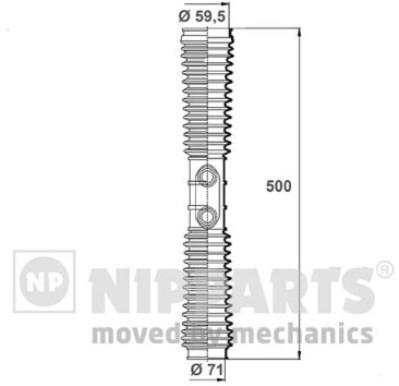 N2844022 Пыльник рулевой рейки HONDA CR-V II (RD_) 2.0 02-06