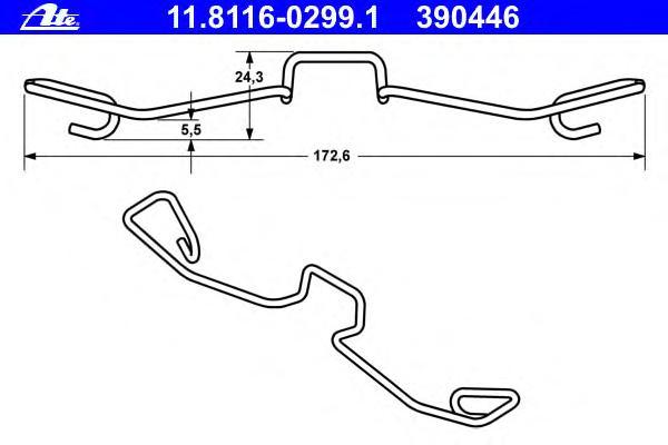 11811602991 Пружина крепления торм. колодок AUDI A6, ALLROAD 2.5-4.2L 2001-2005