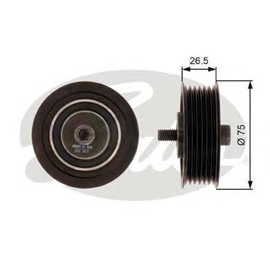 T36262 Ролик ремня приводного VAG 1.4 TSI 05- -A/C