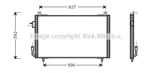 PE5192 Радиатор кондиционера PEUGEOT: 406 (8B) 1.6/1.8/1.8 16V/1.9 D/2.0 16V/2.0 Turbo/2.2/3.0 24V/3.0 V6 95 - 04 , 406 Break (8