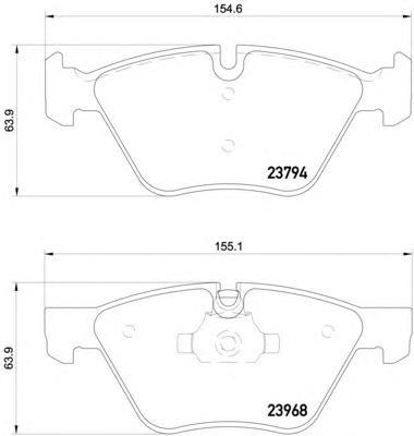 8DB355011321 Колодки тормозные BMW E90/E60 1.8-3.0 03- передние
