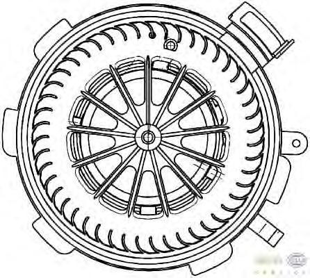 8EW351034071 Мотор отопителя MB SPRINTER +A/C 06-