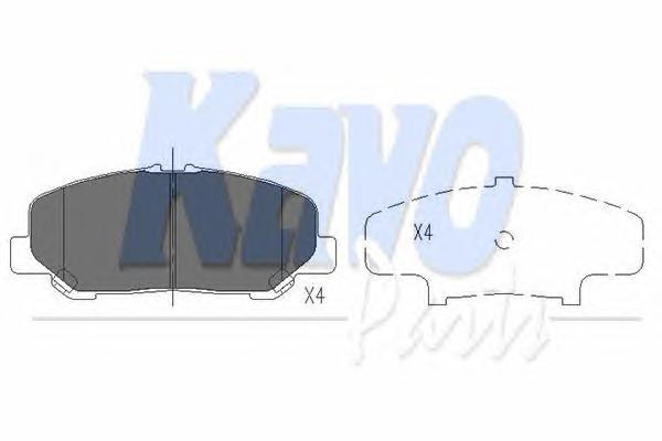 KBP9101 Колодки тормозные TOYOTA ALPHARD 08-/ESTIMA/PREVIA 06- передние