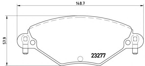 P61071 Колодки тормозные CITROEN C5 1.6D/2.0D/1.8/2.0 01- передние