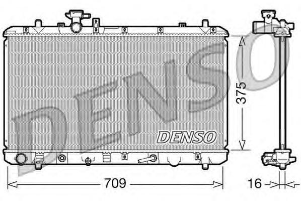 DRM47024 Радиатор системы охлаждения SUZUKI: SX4 1.6 / 1.6 4X4