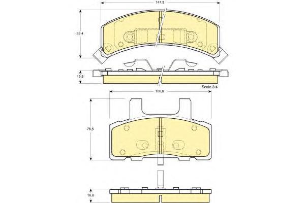 6112733 Колодки тормозные CADILLAC ESCALADE 98-06/CHEVROLET TAHOE 94-96 передние