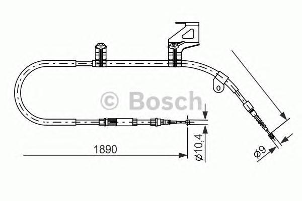 1987477804 Трос, стояночная тормозная система