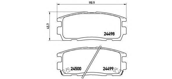 P10004 Колодки тормозные CHEVROLET CAPTIVA/OPEL ANTARA 2.4/3.2 06- задние