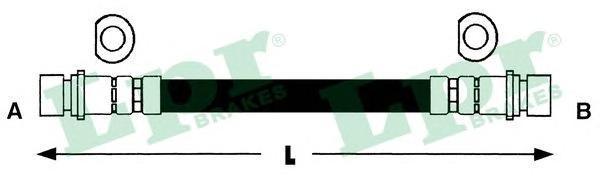 6T46335 Шланг тормозной HONDA ACCORD 85-89/CIVIC 95-01 задний L=344мм.