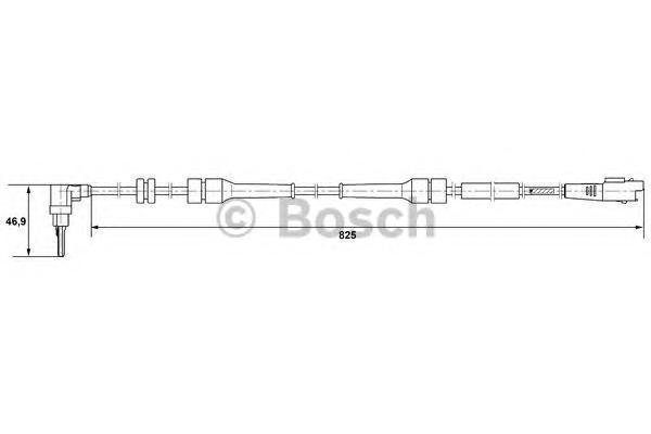 0265007084 Датчик частоты вращения колеса CITROEN: C8 2.0/2.0 HDi/2.2/2.2 HDi/3.0 V6 02-  FIAT: ULYSSE 2.0/2.0 D Multijet/2.0 JT