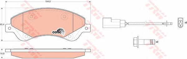 GDB1723 Колодки тормозные FORD TRANSIT 06- 280/300-Series передние с датчиком