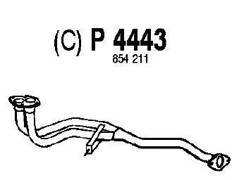 P4443 Труба приемная OPEL VECTRA A 1.6/1.8 88-95