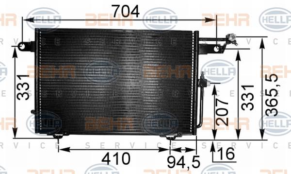 8FC351035531 Конденсатор кондиционера AUDI: 100 (4A, C4) 2.0/2.0 E/2.0 E 16V/2.0 E 16V quattro/2.0 E quattro/2.3 E/2.3 E quattro
